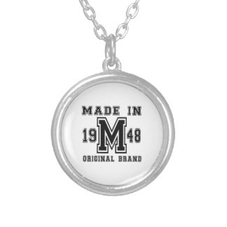 MADE IN 1948 ORIGINAL BRAND BIRTHDAY DESIGNS SILVER PLATED NECKLACE
