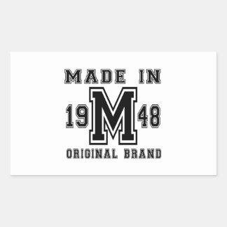 MADE IN 1948 ORIGINAL BRAND BIRTHDAY DESIGNS STICKER