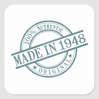 Made in 1948 square sticker