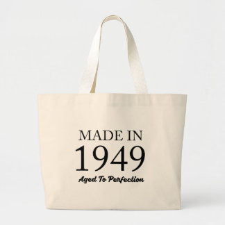 Made in 1949 large tote bag