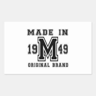 MADE IN 1949 ORIGINAL BRAND BIRTHDAY DESIGNS STICKER
