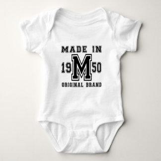 MADE IN 1950 ORIGINAL BRAND BIRTHDAY DESIGNS BABY BODYSUIT