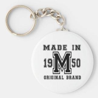 MADE IN 1950 ORIGINAL BRAND BIRTHDAY DESIGNS KEYCHAIN
