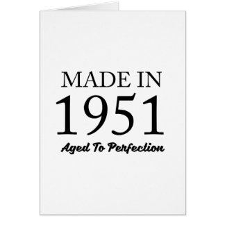 Made In 1951 Card