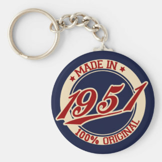 Made In 1951 Keychain