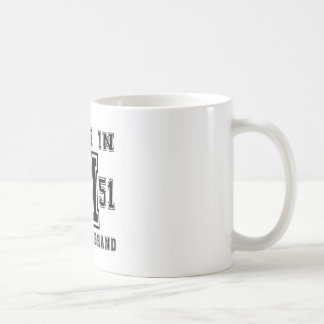 MADE IN 1951 ORIGINAL BRAND BIRTHDAY DESIGNS COFFEE MUG