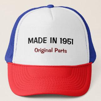 Made in 1951, Original Parts, custom text Trucker Hat