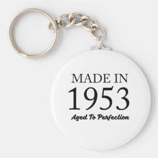 Made In 1953 Basic Round Button Keychain
