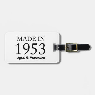 Made In 1953 Luggage Tag
