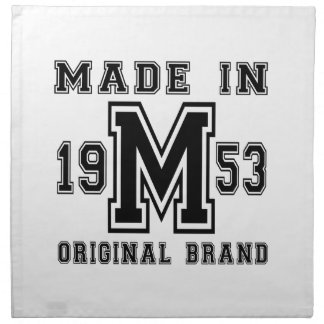 MADE IN 1953 ORIGINAL BRAND BIRTHDAY DESIGNS NAPKIN