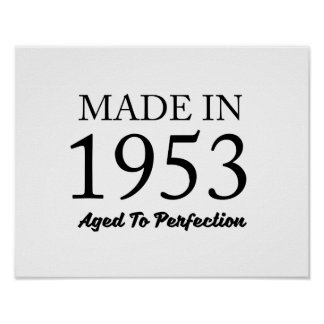 Made In 1953 Poster