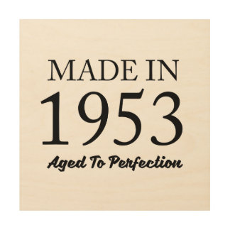 Made In 1953 Wood Canvases