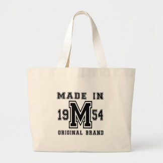 MADE IN 1954 ORIGINAL BRAND BIRTHDAY DESIGNS LARGE TOTE BAG