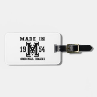 MADE IN 1954 ORIGINAL BRAND BIRTHDAY DESIGNS LUGGAGE TAG