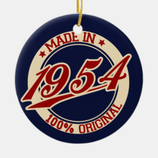 Made In 1954 Christmas Ornaments