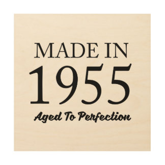 Made In 1955 Wood Wall Decor