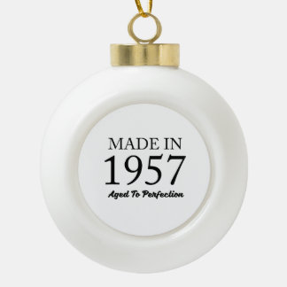 Made In 1957 Ceramic Ball Christmas Ornament