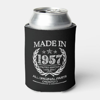 Made in 1957 - Funny 60th Birthday can cooler