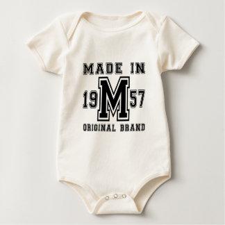 MADE IN 1957 ORIGINAL BRAND BIRTHDAY DESIGNS BABY BODYSUIT