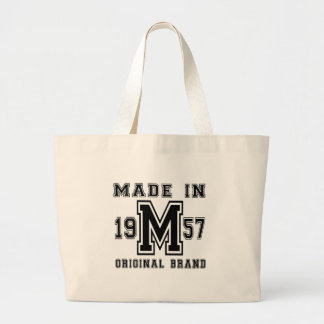 MADE IN 1957 ORIGINAL BRAND BIRTHDAY DESIGNS LARGE TOTE BAG