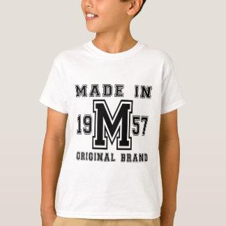 MADE IN 1957 ORIGINAL BRAND BIRTHDAY DESIGNS T-Shirt