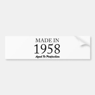 Made In 1958 Bumper Sticker