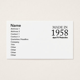 Made In 1958 Business Card