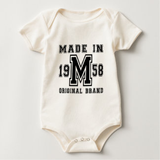 MADE IN 1958 ORIGINAL BRAND BIRTHDAY DESIGNS BABY BODYSUIT