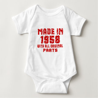 Made In 1958 With All Original Parts Baby Bodysuit
