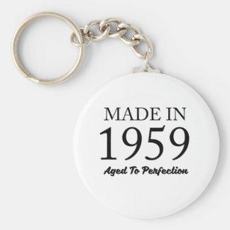 Made In 1959 Basic Round Button Keychain