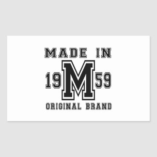 MADE IN 1959 ORIGINAL BRAND BIRTHDAY DESIGNS STICKER