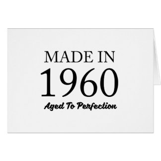 Made In 1960 Card