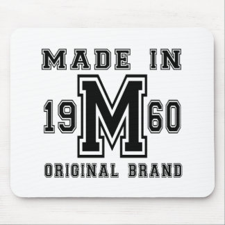 MADE IN 1960 ORIGINAL BRAND BIRTHDAY DESIGNS MOUSE PAD