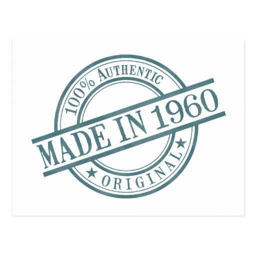 Made in 1960 post card