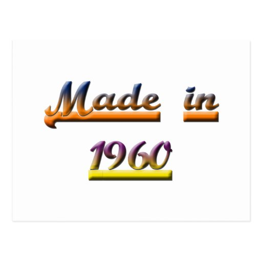 MADE IN 1960 POSTCARD