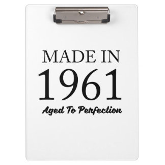 Made In 1961 Clipboard