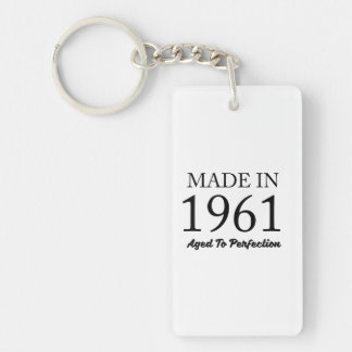 Made In 1961 Double-Sided Rectangular Acrylic Keychain