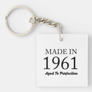 Made In 1961 Double-Sided Square Acrylic Keychain