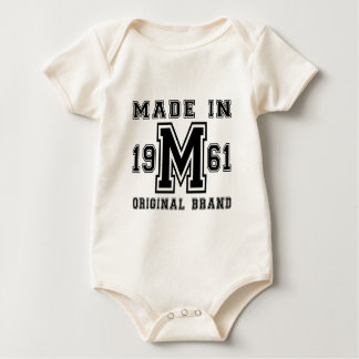 MADE IN 1961 ORIGINAL BRAND BIRTHDAY DESIGNS BABY BODYSUIT