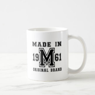 MADE IN 1961 ORIGINAL BRAND BIRTHDAY DESIGNS COFFEE MUG