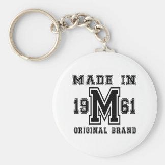 MADE IN 1961 ORIGINAL BRAND BIRTHDAY DESIGNS KEYCHAIN