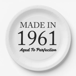 Made In 1961 Paper Plate