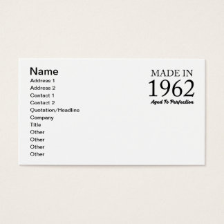 Made In 1962 Business Card