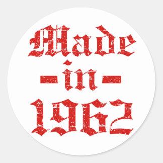 Made in 1962 designs classic round sticker
