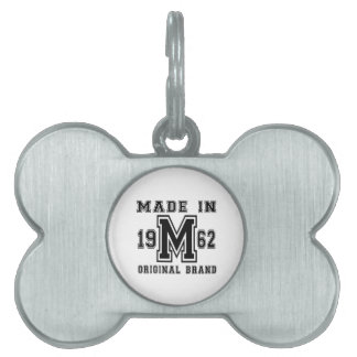 MADE IN 1962 ORIGINAL BRAND BIRTHDAY DESIGNS PET ID TAG