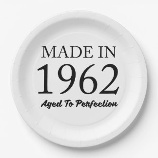 Made In 1962 Paper Plate