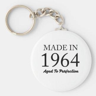 Made In 1964 Basic Round Button Keychain
