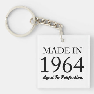 Made In 1964 Double-Sided Square Acrylic Keychain