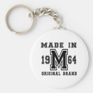 MADE IN 1964 ORIGINAL BRAND BIRTHDAY DESIGNS KEYCHAIN