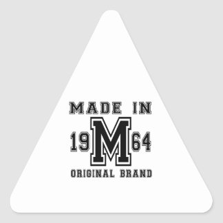 MADE IN 1964 ORIGINAL BRAND BIRTHDAY DESIGNS TRIANGLE STICKER